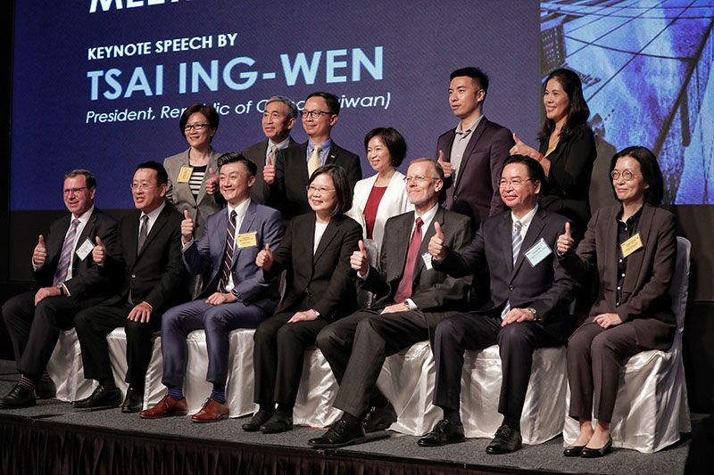 President Tsai attends 2020 AmCham Taipei Annual General Meeting Photos - New Southbound Policy