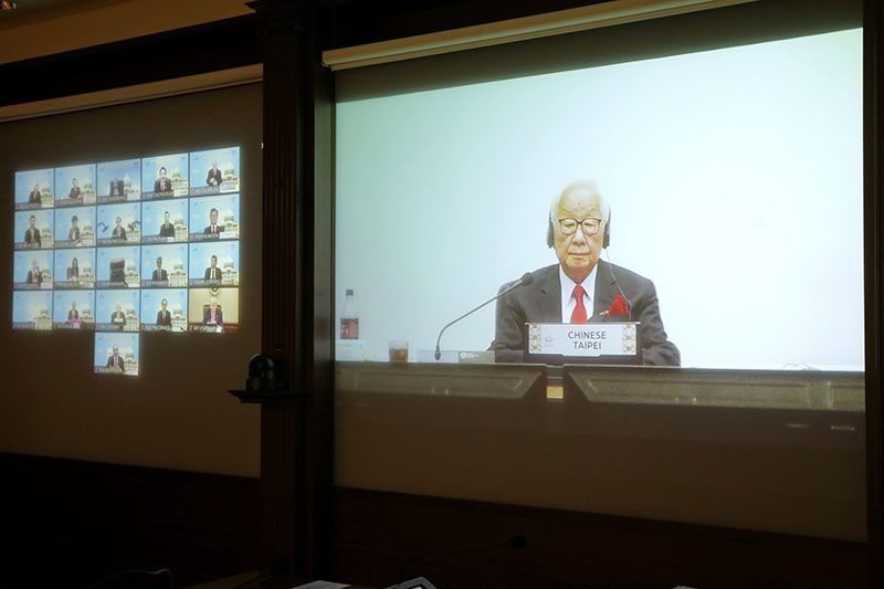 Leader's Representative Morris Chang Attends the virtual 2020 APEC Economic Leaders' Meeting Photos - New Southbound Policy