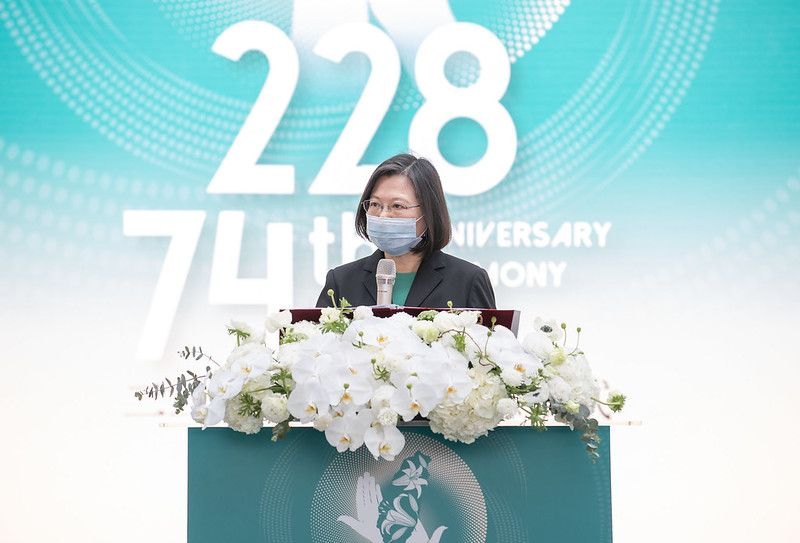 Tsai vows to uphold democracy, freedom at 228 memorial service[open another page]