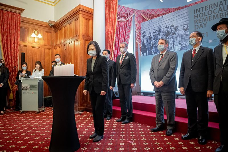 President Tsai delivers remarks at International Holocaust Remembrance Day event Photos - New Southbound Policy