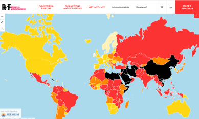 Taiwan remains 43rd in latest World Press Freedom Index