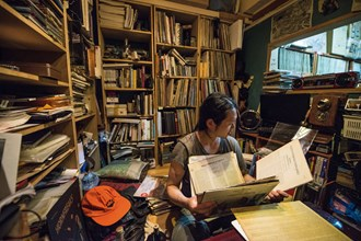 Vinyl Depot's owner Wang Qiguang has collected nearly 10,000 vinyl records.