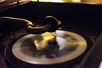 As the record revolves under the needle, beautiful music springs forth.