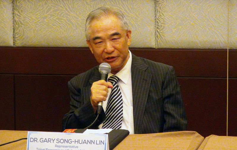 Gary Song-huann Lin, head of the Taipei Economic and Cultural Office in the Philippines, said Taiwan is an indispensable partner of the Southeast Asian nation in the war on drugs. (CNA)