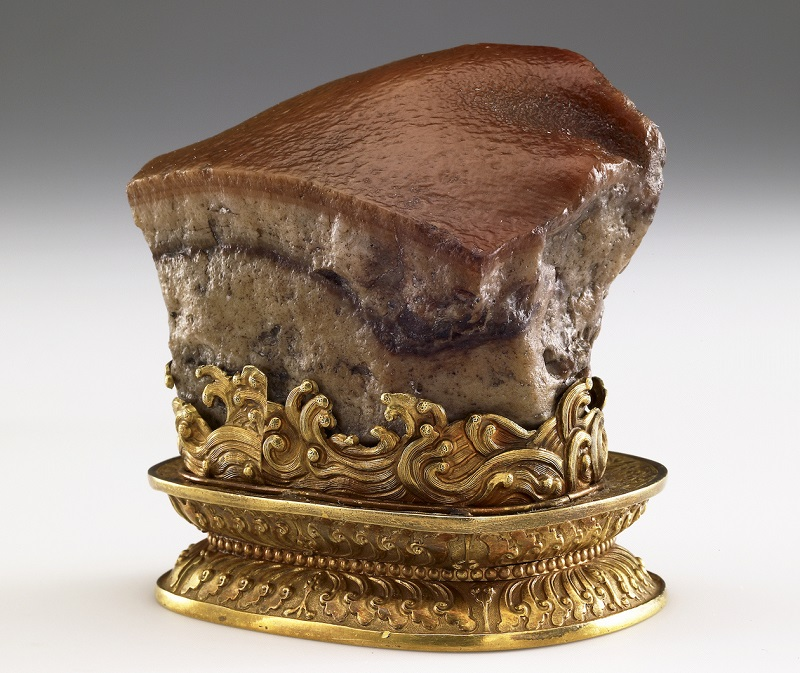 "The renowned ""Meat-shaped Stone"" will be the star of ""Heaven and Earth in Chinese Art,"" first-ever Australia exhibition showcasing NPM treasures from Feb. 2 to May 5, 2019. (Courtesy of NPM)"
