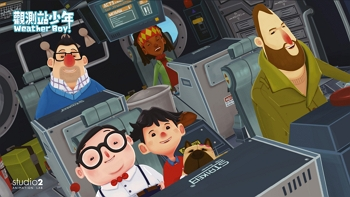 In Weather Boy, a show centered around the issue of global warming, a Taiwanese boy named Jimmy and scientists from other nations have adventures around the world. (courtesy of studio2 Animation Lab)
