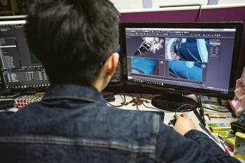 People working to bring a vision to life fill every corner of an animation studio.