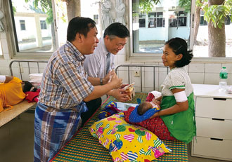 The Taiwan seed producer runs a hospital in Ayeyarwady Region that offers free medical services to underprivileged farmers. (Photo courtesy of Known-You Seed Co.)