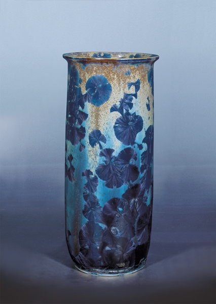 Sun Down: The heavy crystalline glaze mimics the dazzling beauty of flowers in full bloom.