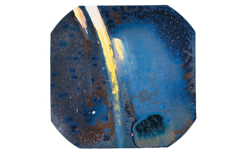 The Galaxy: Crystalline glaze creates a profound and distant vision of black holes and shooting stars.