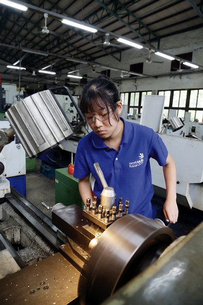 Zoe Chan is training hard for the international WorldSkills Competition in Russia in August of this year.