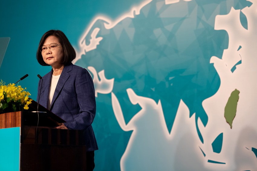 President Tsai Ing-wen opens the Ketagalan Forum: 2019 Asia-Pacific Security Dialogue Aug. 20 in Taipei City. (Courtesy of Presidential Office)