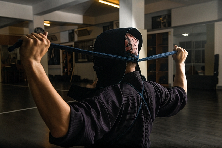 Ritual is all-important in kendo, for it is a sport that trains both body and mind.