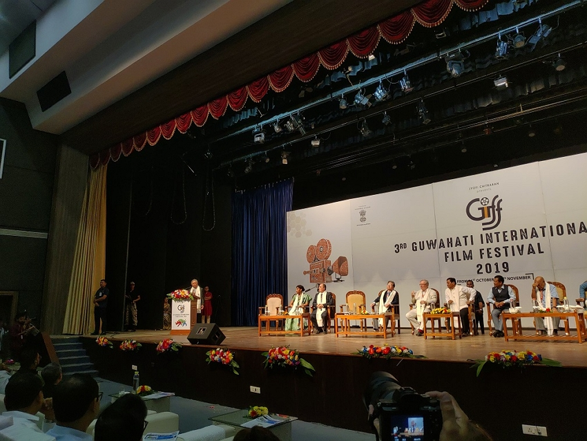 Amb. Tien gives remarks at the opening ceremony of 3rd GIFF on Oct. 31, 2019.