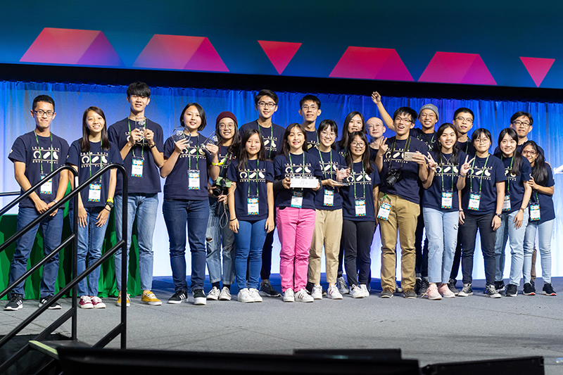 Team NCKU Tainan is winner of gold in the undergraduate division at 2019 iGEM. (Courtesy of National Cheng Kung University)