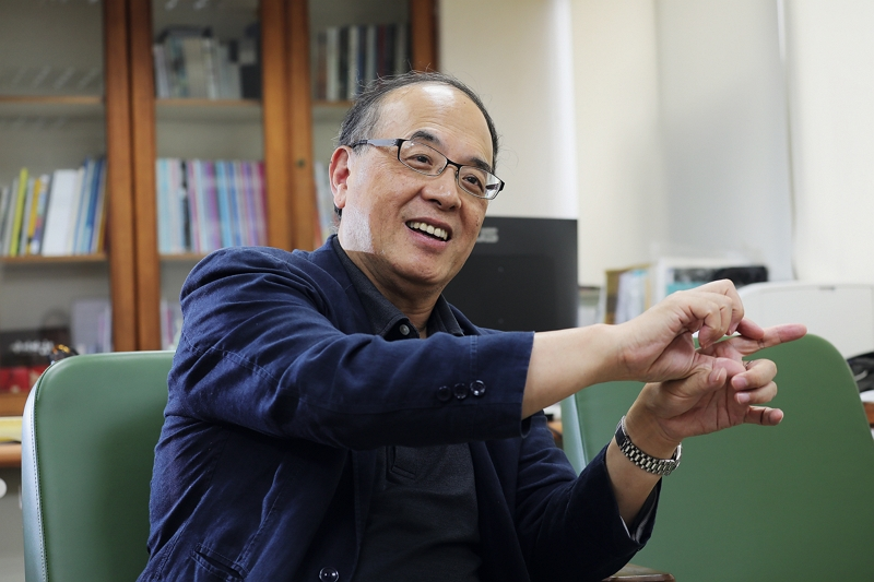 Lan Tsu-wei has been appointed the TFAI's first chairman. He aims to document the history of Taiwan's audiovisual culture from 1895 onwards. (photo by Jimmy Lin)