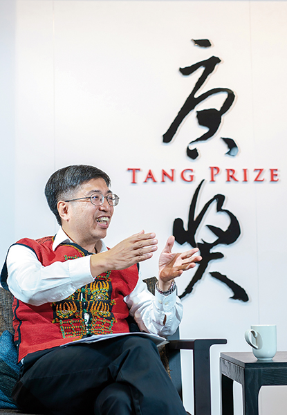 Tang Prize Foundation CEO Chern Jenn-Chuan views the Tang Prizes as a way to contribute to the world, and help Taiwan gain global recognition. (photo by Lin Min-hsuan)