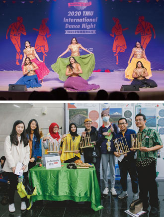 International Dance Night and International Cultural Booth are among the many extracurricular activities organized by TMU to promote mutual understanding and friendship between foreign and domestic students. (Photos courtesy of Taipei Medical University)